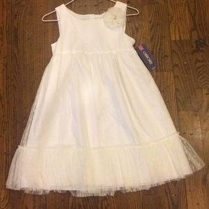 NWT Beautiful White Girls Dress Sz 10/12 L